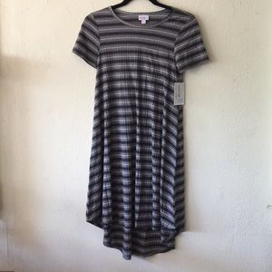 Lularoe Carly grey stripes